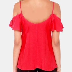 Lucy Love Tops - Lucy Love Cold shoulder Blouse Sz. L